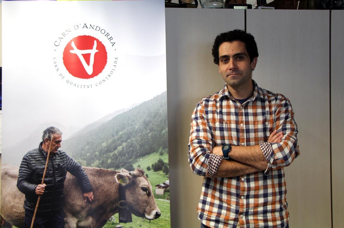 El gerent de Ramaders d'Andorra, Gerard Martínez.