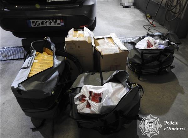 El tabac de contraban decomissat el 21 de novembre pel cos de policia.