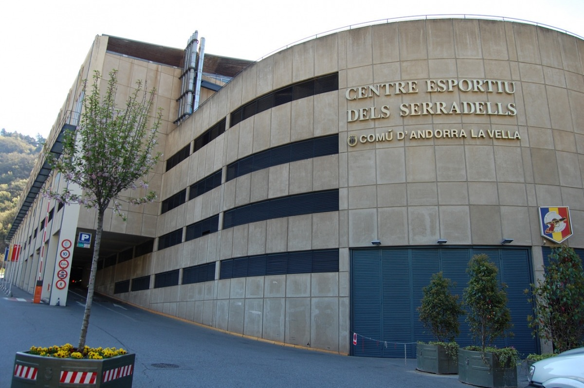 El Centre esportiu dels Serradells.