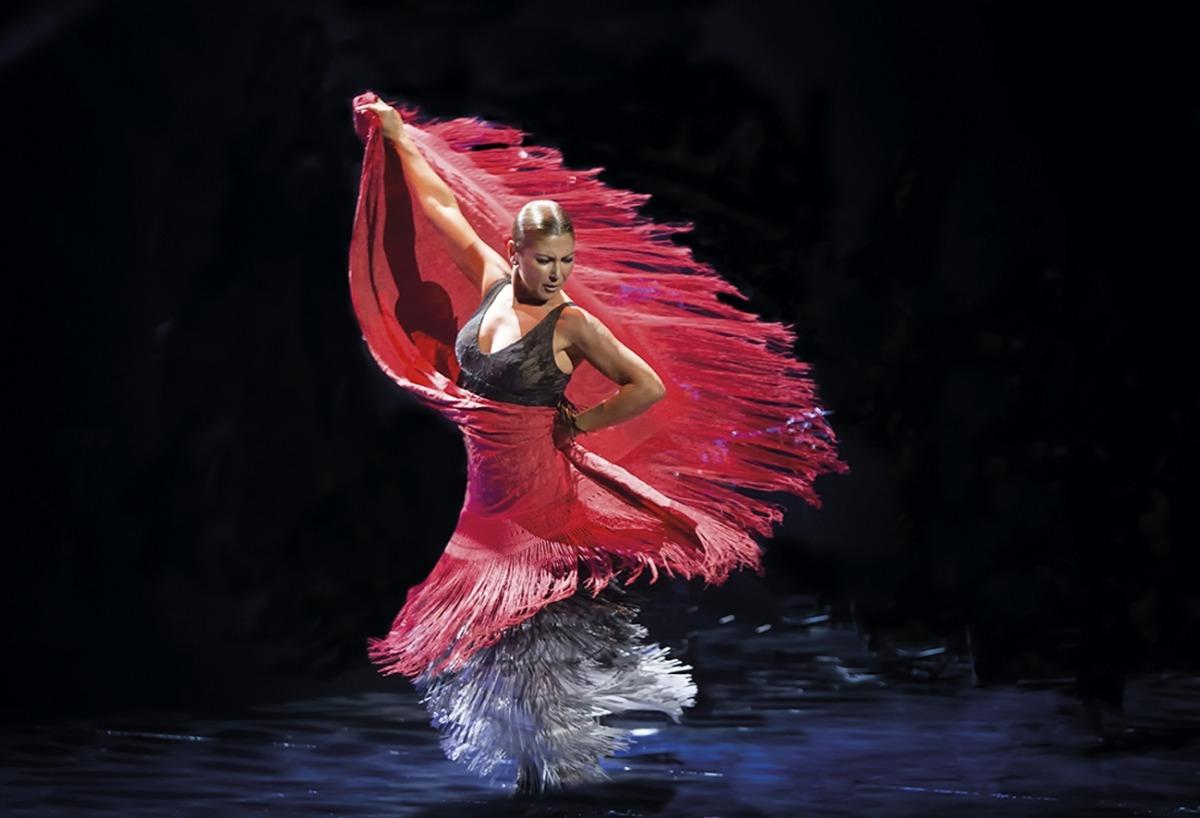 L'artista Sara Baras durant una actuació.