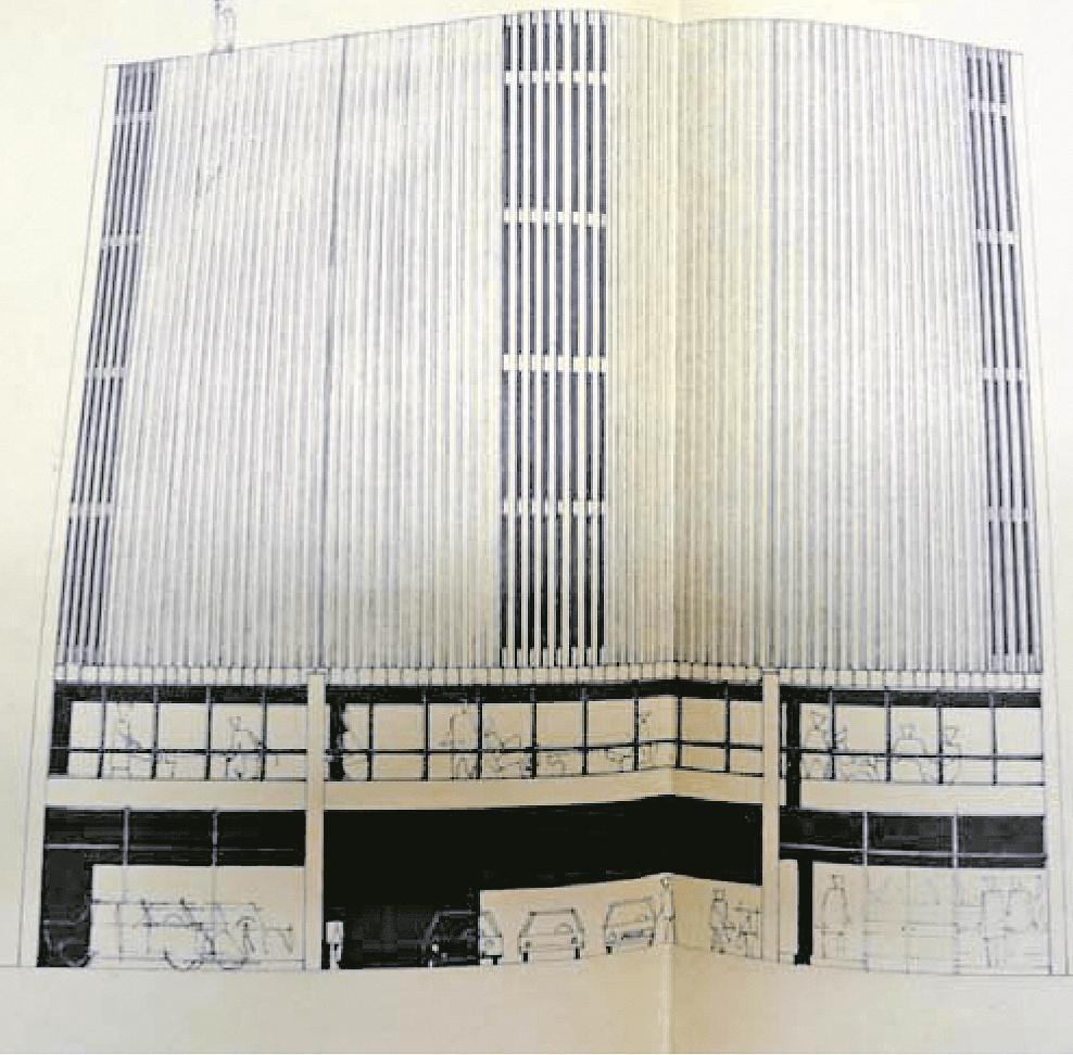 Projecte de centre comercial per a l'avinguda Carlemany, per a l'època (1968) absolutament trencador.