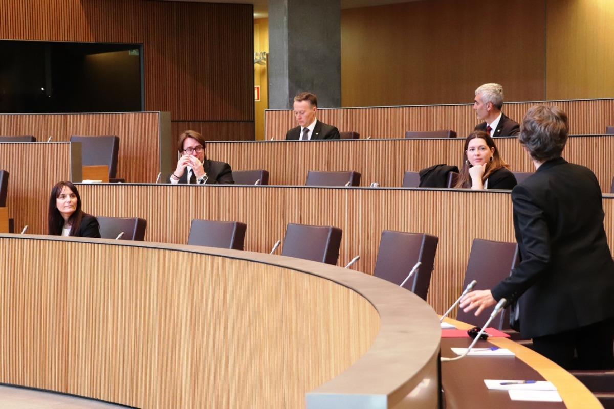 El ple on es va aprovar el primer paquet de mesures urgents.