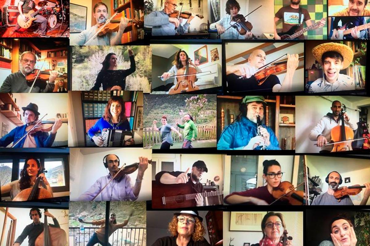 Els integrants de la cançó participativa de la Fundació ONCA.