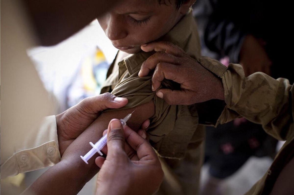 Una campanya de vacunació d'Unicef.