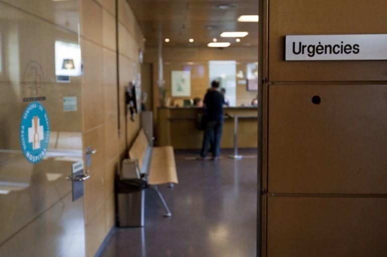 Entrada a Urgències de l'hospital Nostra Senyora de Meritxell.