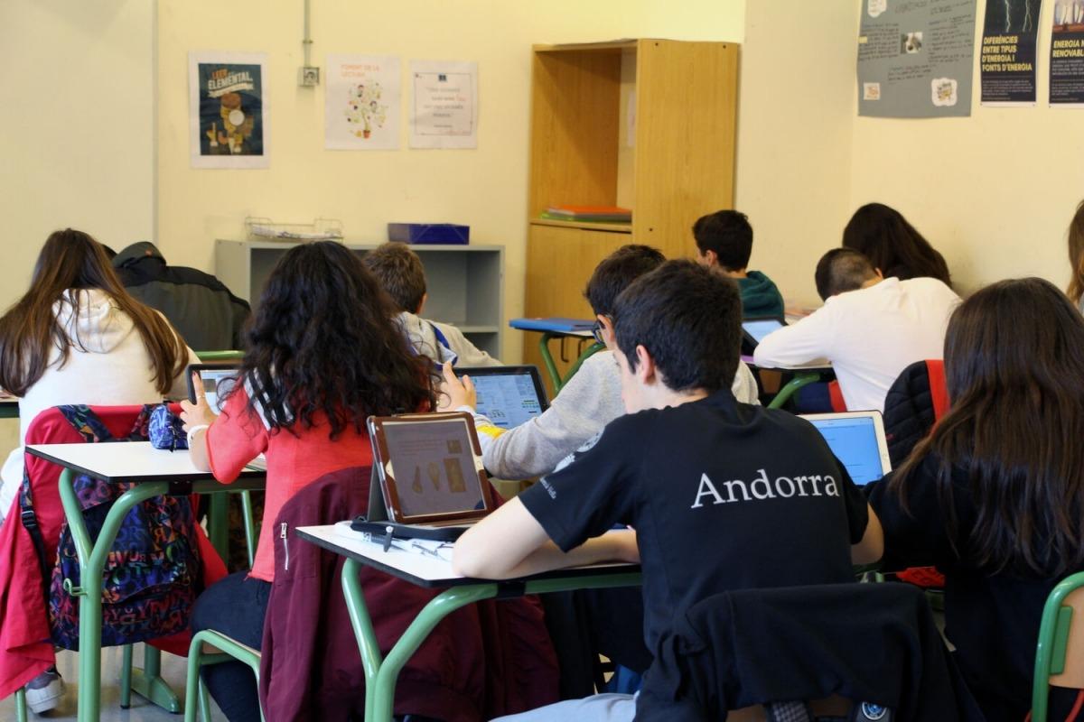 Una aula de l'escola andorrana en una imatge d'arxiu.
