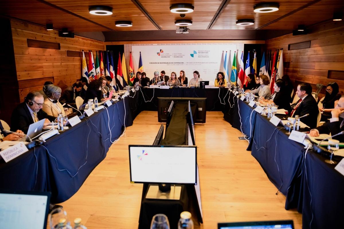 Una reunió anterior de Coordinadors Nacionals i de Responsables de Cooperació.
