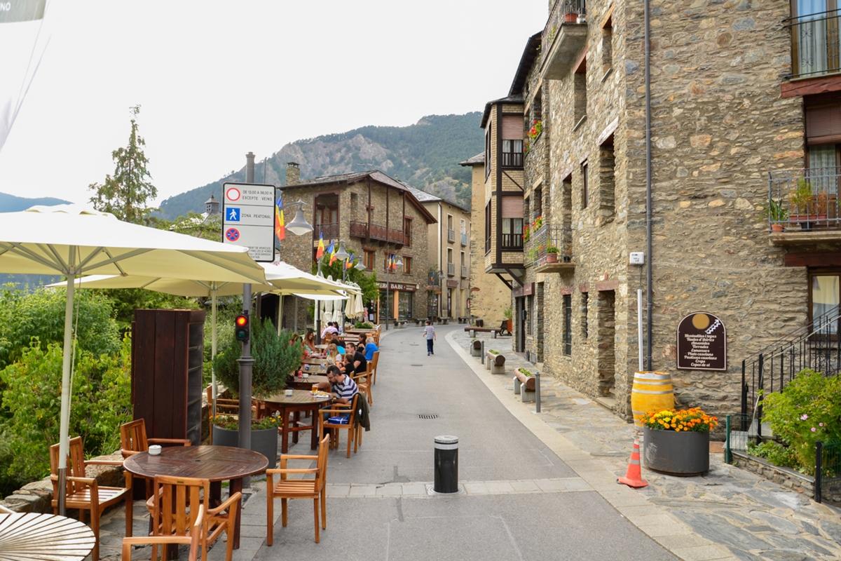 El carrer Major d'Ordino.