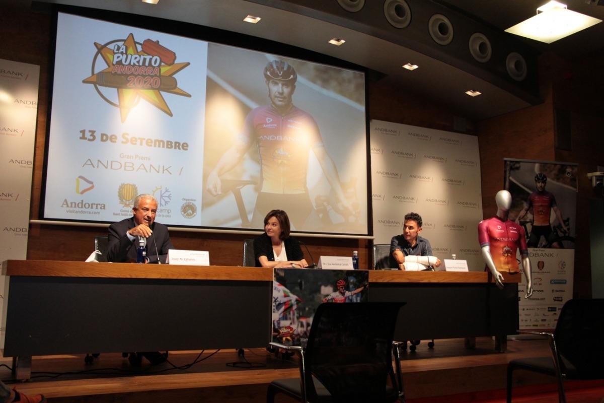 Un moment de la presentació de La Purito 2020, aquest matí.