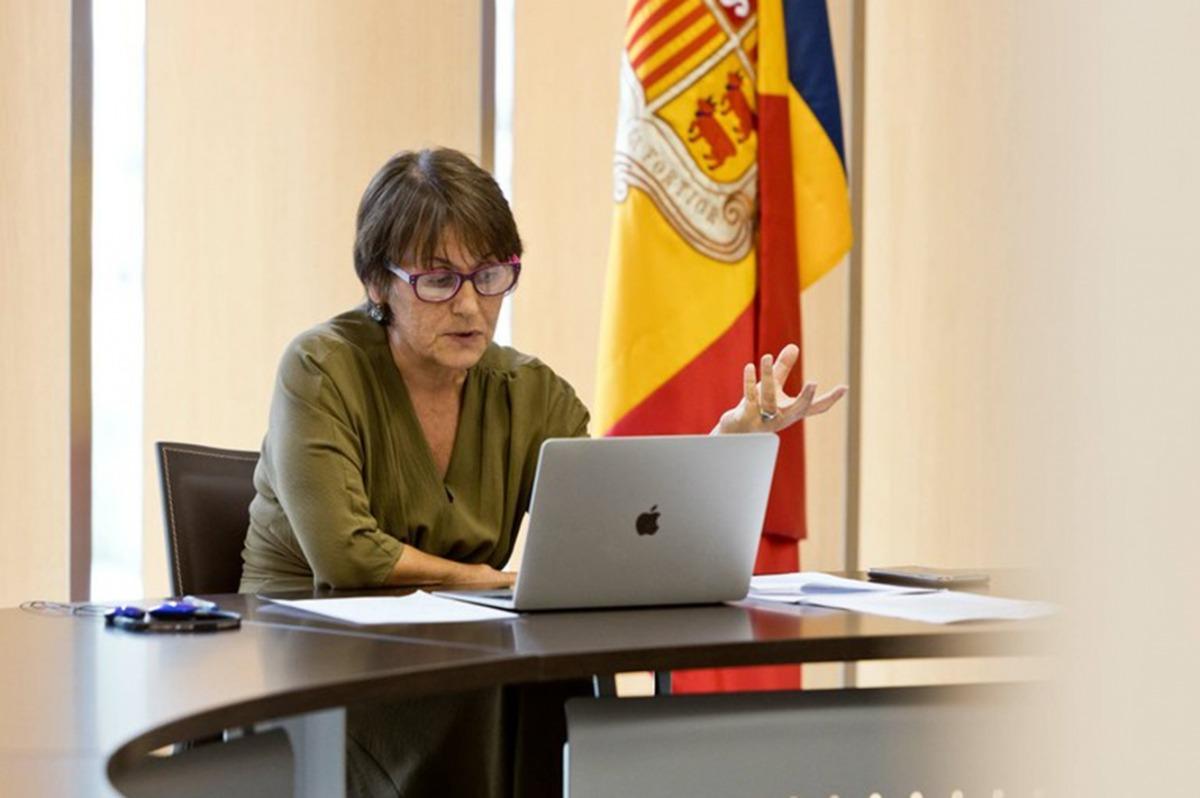 La síndica general, Roser Suñé, durant una de les seves intervencions en les reunions parlamentàries.