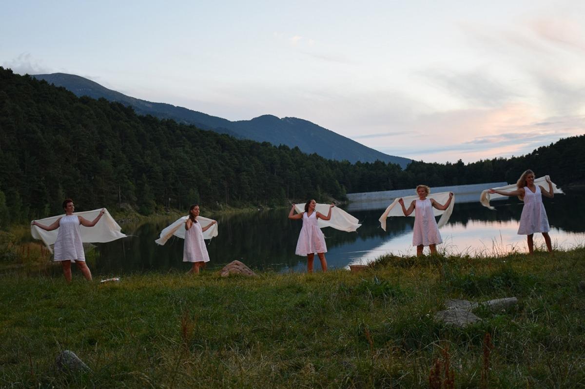 L'espectacle 'Dones d'aigua', que s'ha pogut veure al final de la visita al camí hidroelèctric.