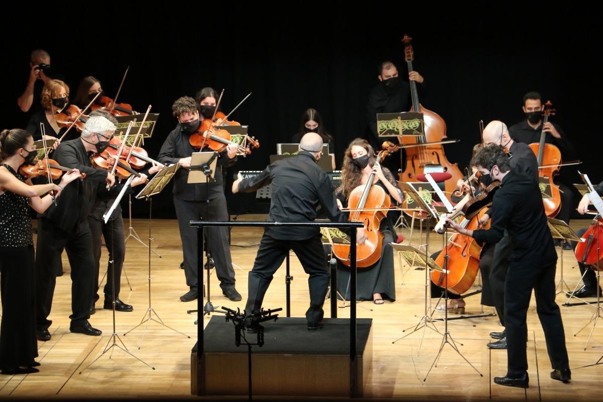 Un instant del concert de Meritxell.
