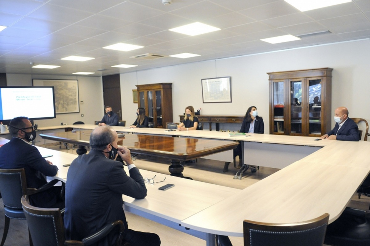 Un moment de la reunió per a l'elaboració del Pla integral de salut mental i addiccions.