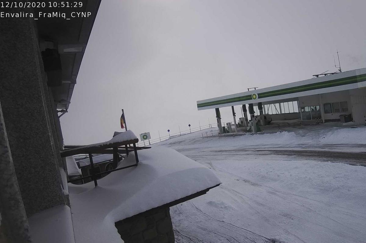 La nevada al port d'Envalira.
