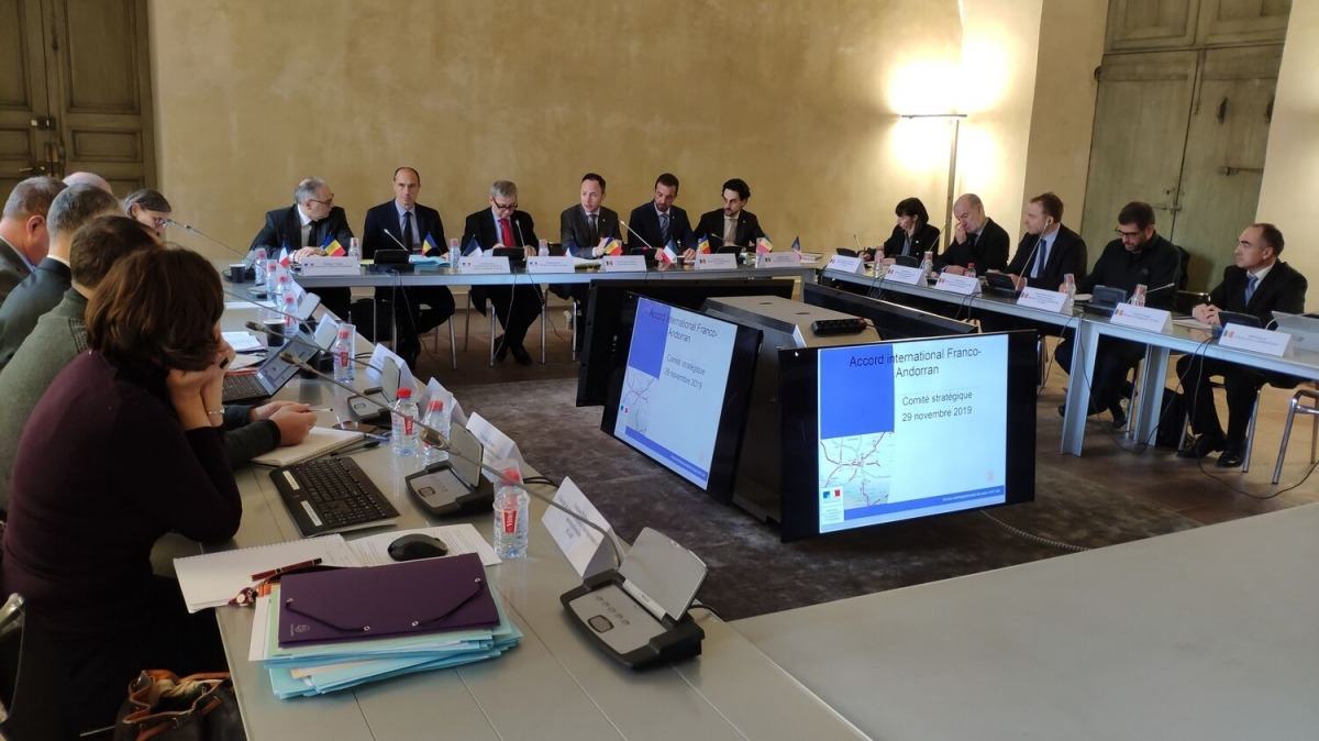 Reunió del Copil entre representants de França i Andorra el 2019.