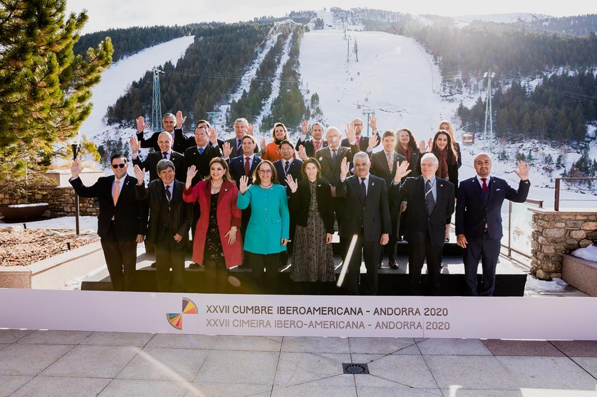 Els ministres d'Exteriors l'hivern passat a Soldeu.