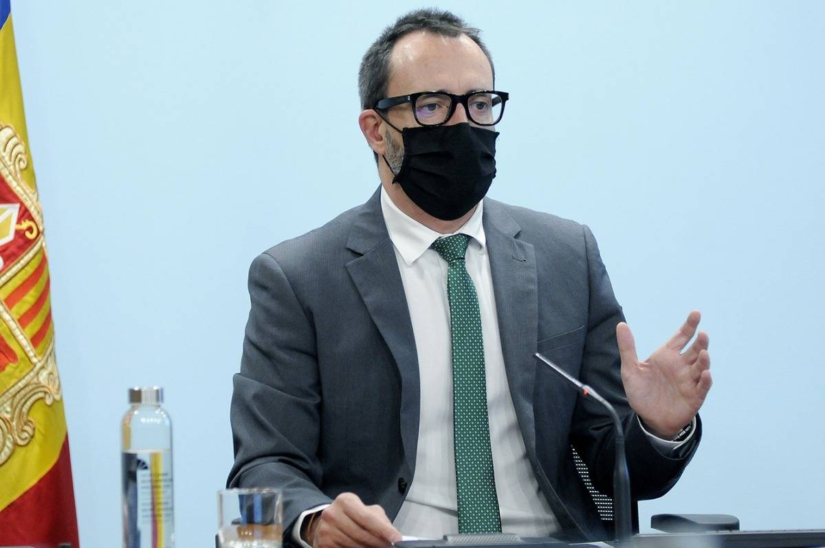 El ministre d'Afers Socials, Habitatge i Joventut, Víctor Filloy, en una roda de premsa recent.