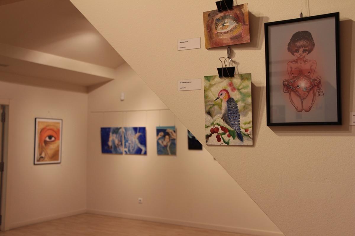La mostra de les obres que s'han presentat al Talentejant i que es poden veure al CAEE.