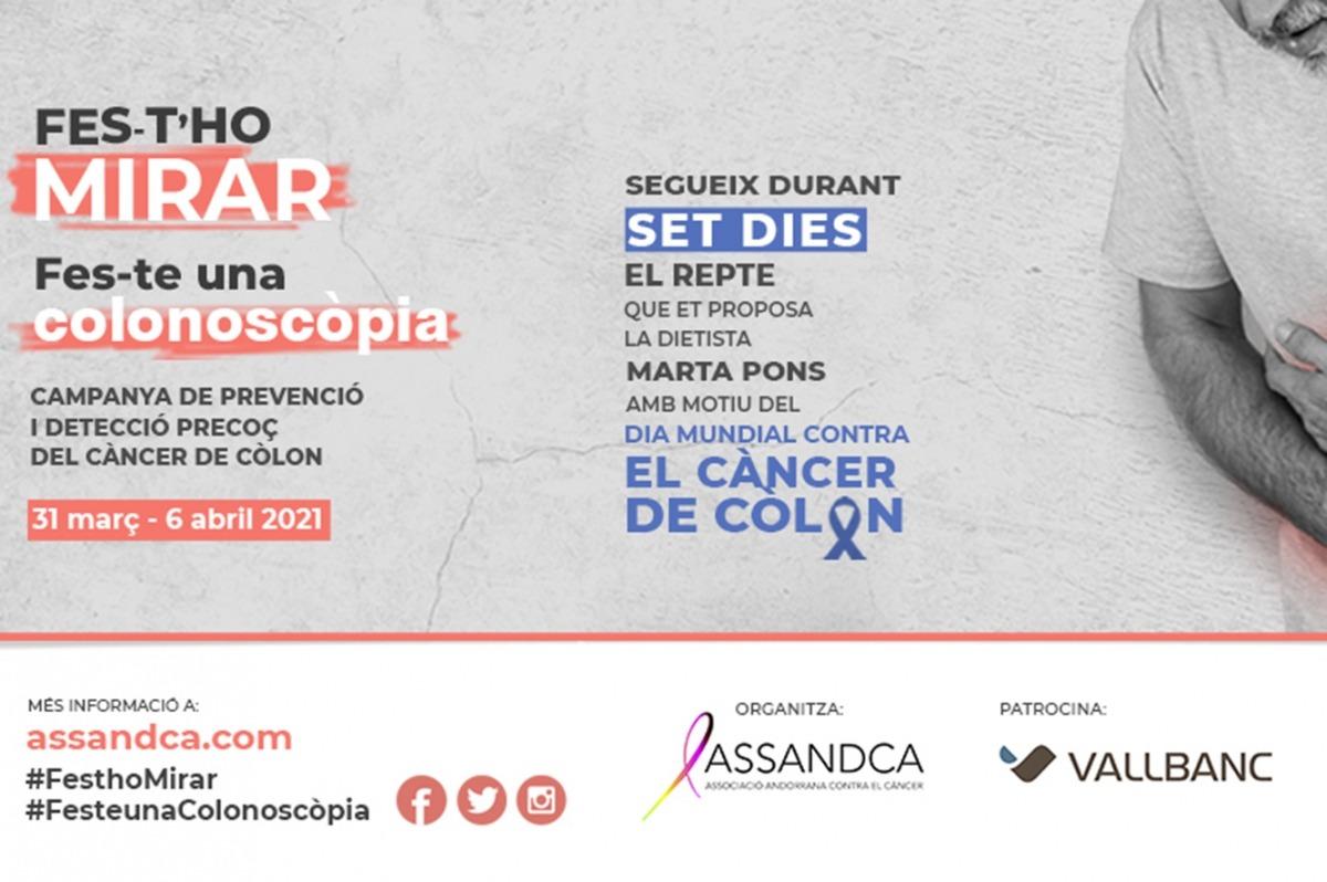 Una imatge de la campanya contra el càncer de còlon.