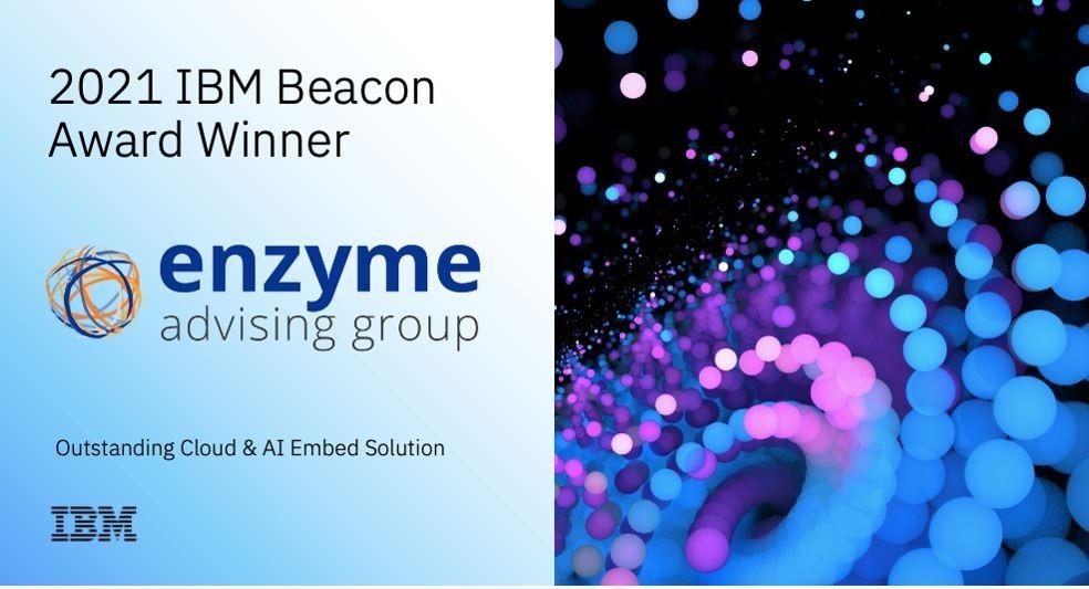 Enzyme Advising Group, guardonat per segona vegada amb el premi 'IBM Beacon 2021'.