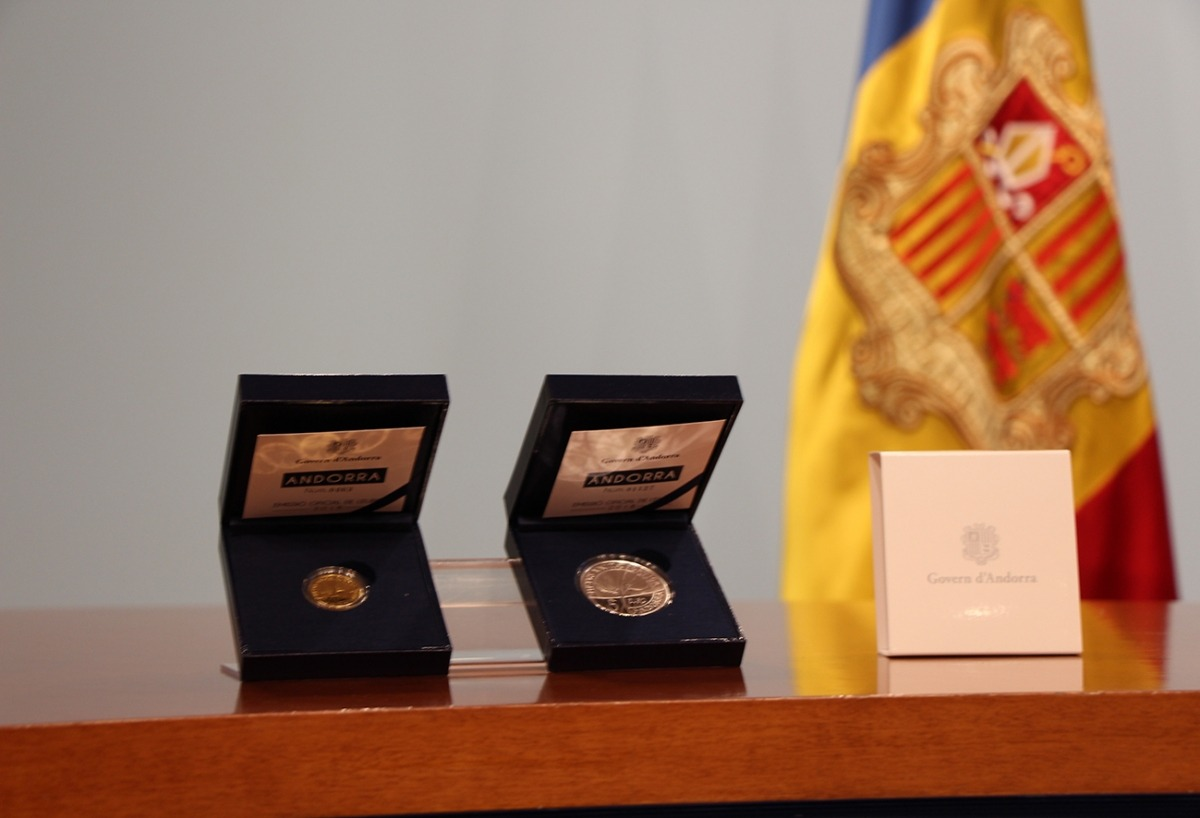 Monedes d'euro andorranes.