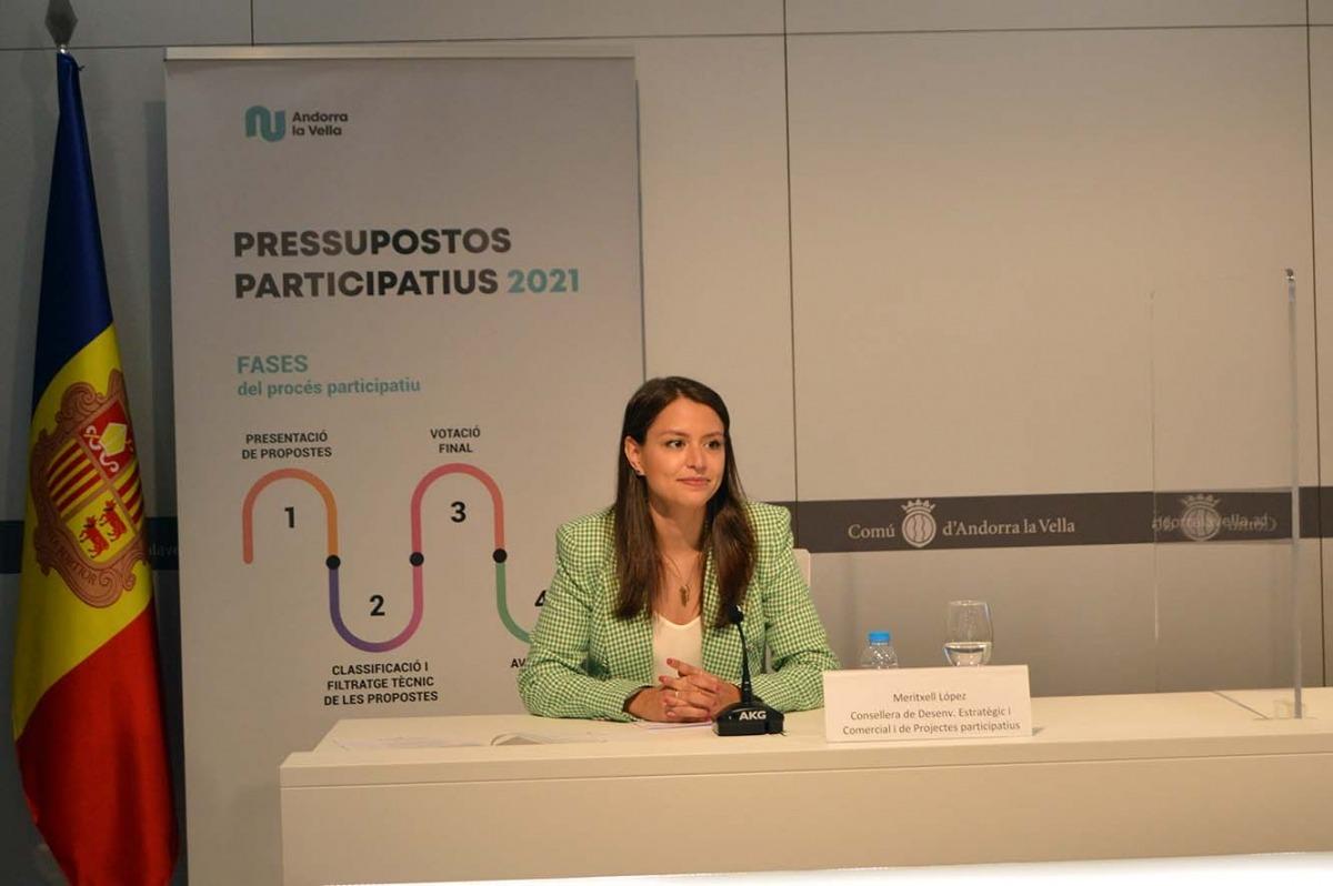 La consellera de Desenvolupament Estratègic i Comercial i de Projectes Participatius d'Andorra la Vella, Meritxell López.