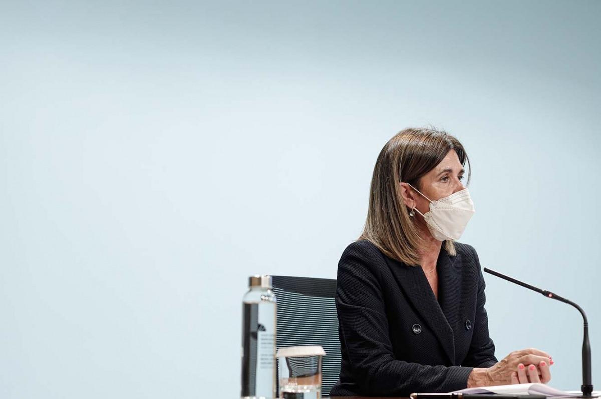 La ministra d'Educació i Ensenyament Superior, Ester Vilarrubla, en una compareixença anterior.