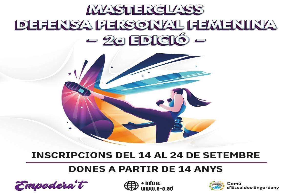 El cartell de la segona edició de la classe de defensa personal.