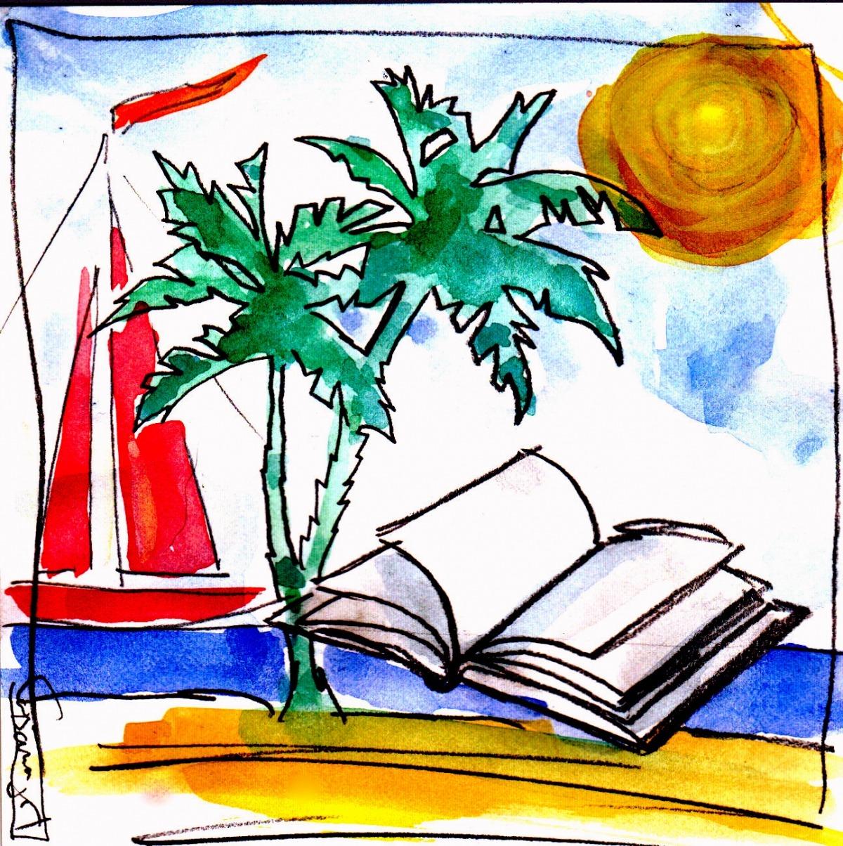 Jordi Casamajor ha il·lustrat els cinc relats amb motius estiuencs, llibre inclòs.