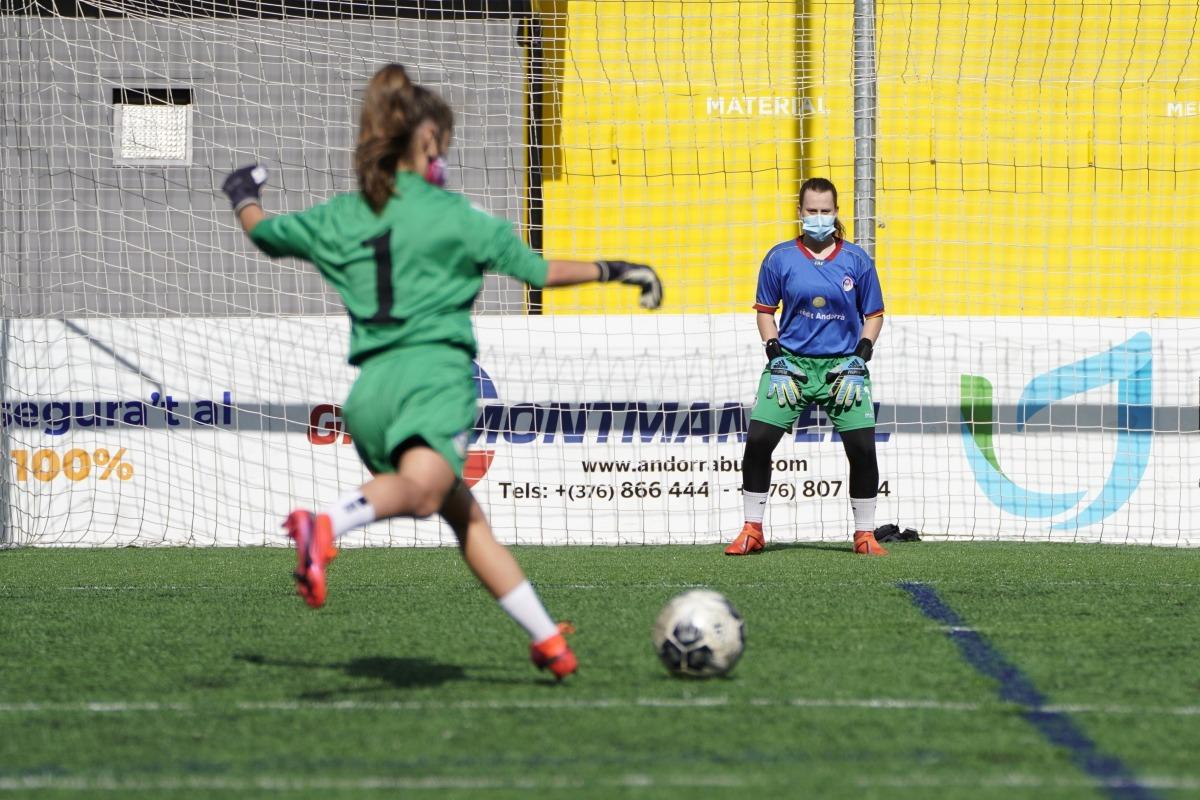 L'Enfaf Crèdit Andorrà femení no jugarà el cap de setmana. Foto: Coke González
