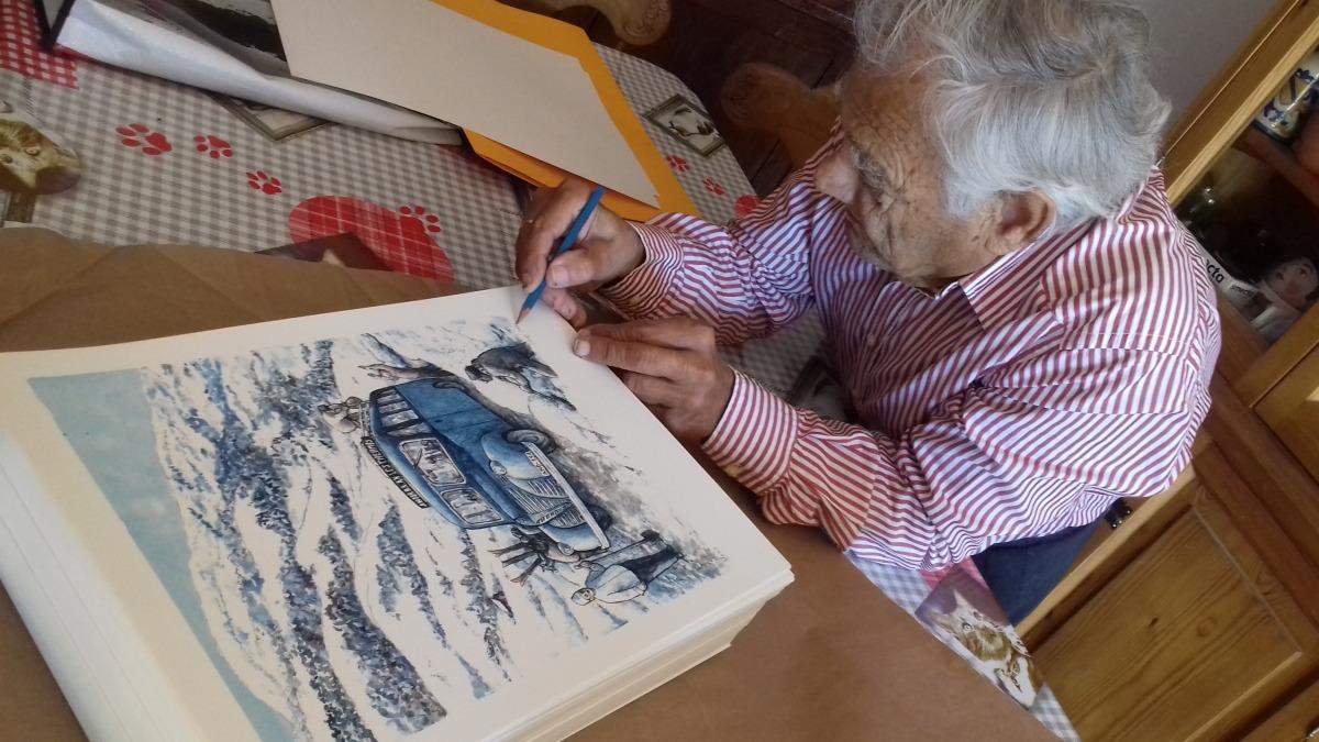 Sergi Mas, en acció: l'edició consta de 250 exemplars numerats i autografiats per l'artista.