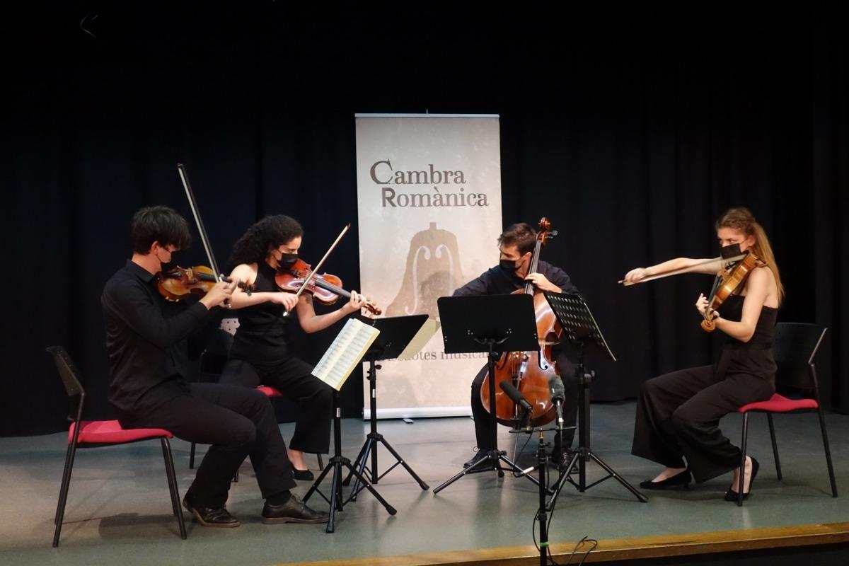 El Quartet Vivancos, en acció.