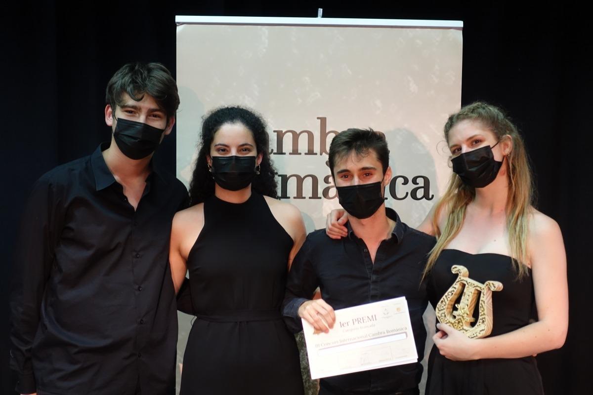 El Quartet Vivancos, format per músics de l'Esmuc, amb el premi.