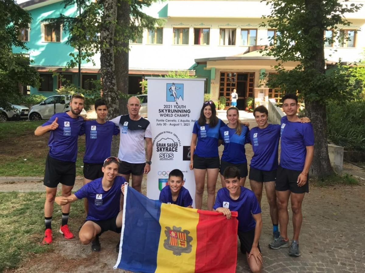 L'equip de la FAM a L'Aquila. Foto: FAM