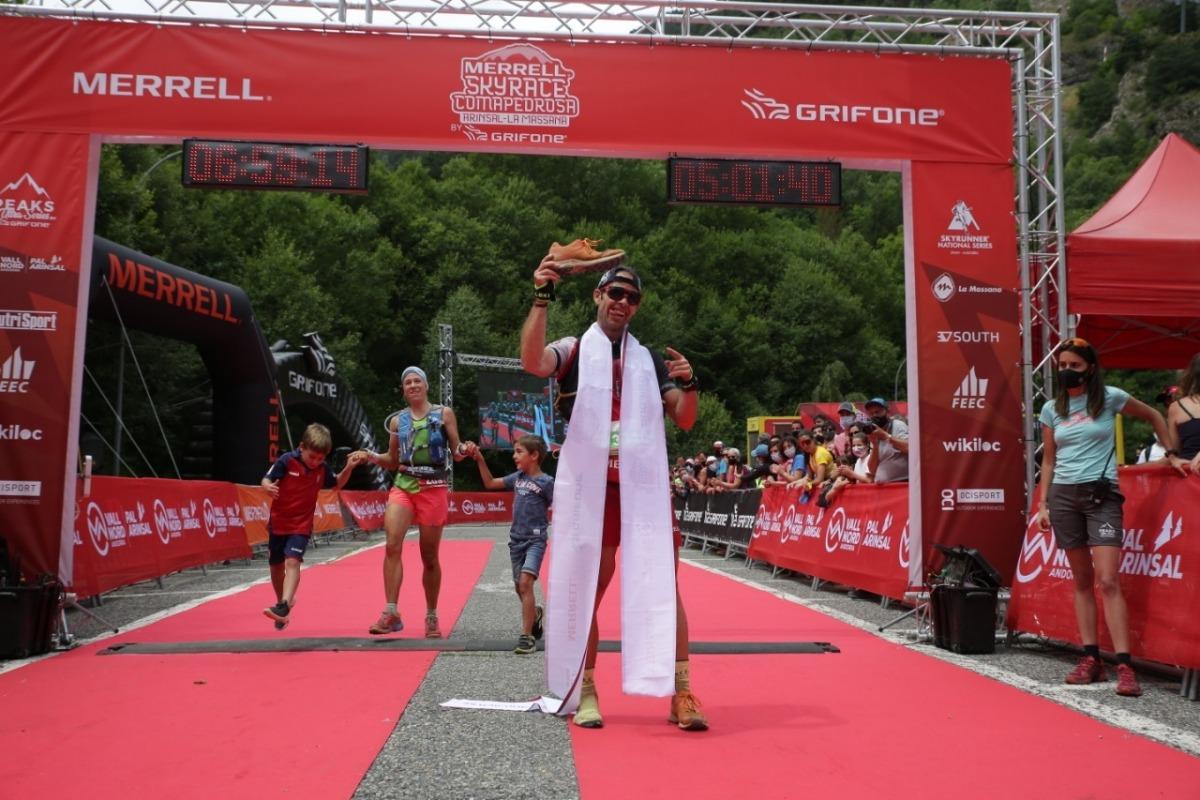 Pere Aurell, primer a la primera Ultra Comapedrosa. Foto: Facundo Santana
