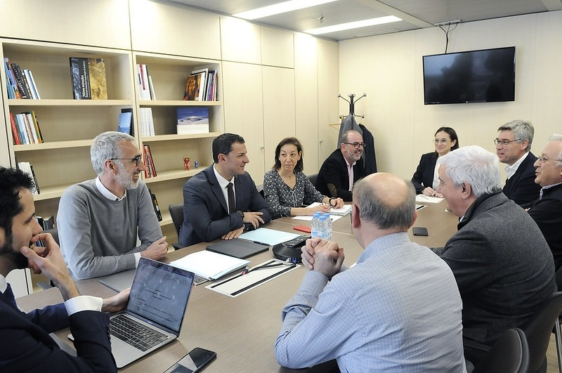 Reunió del ministre de Presidència, Economia i Empresa, Jordi Gallardo, amb la patronal i altres representants dels sectors econòmics.