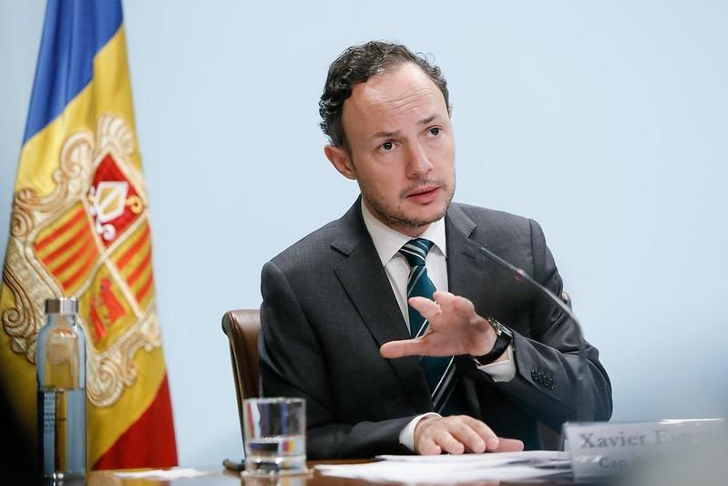 El cap de Govern, Xavier Espot, en una roda de premsa la setmana passada.