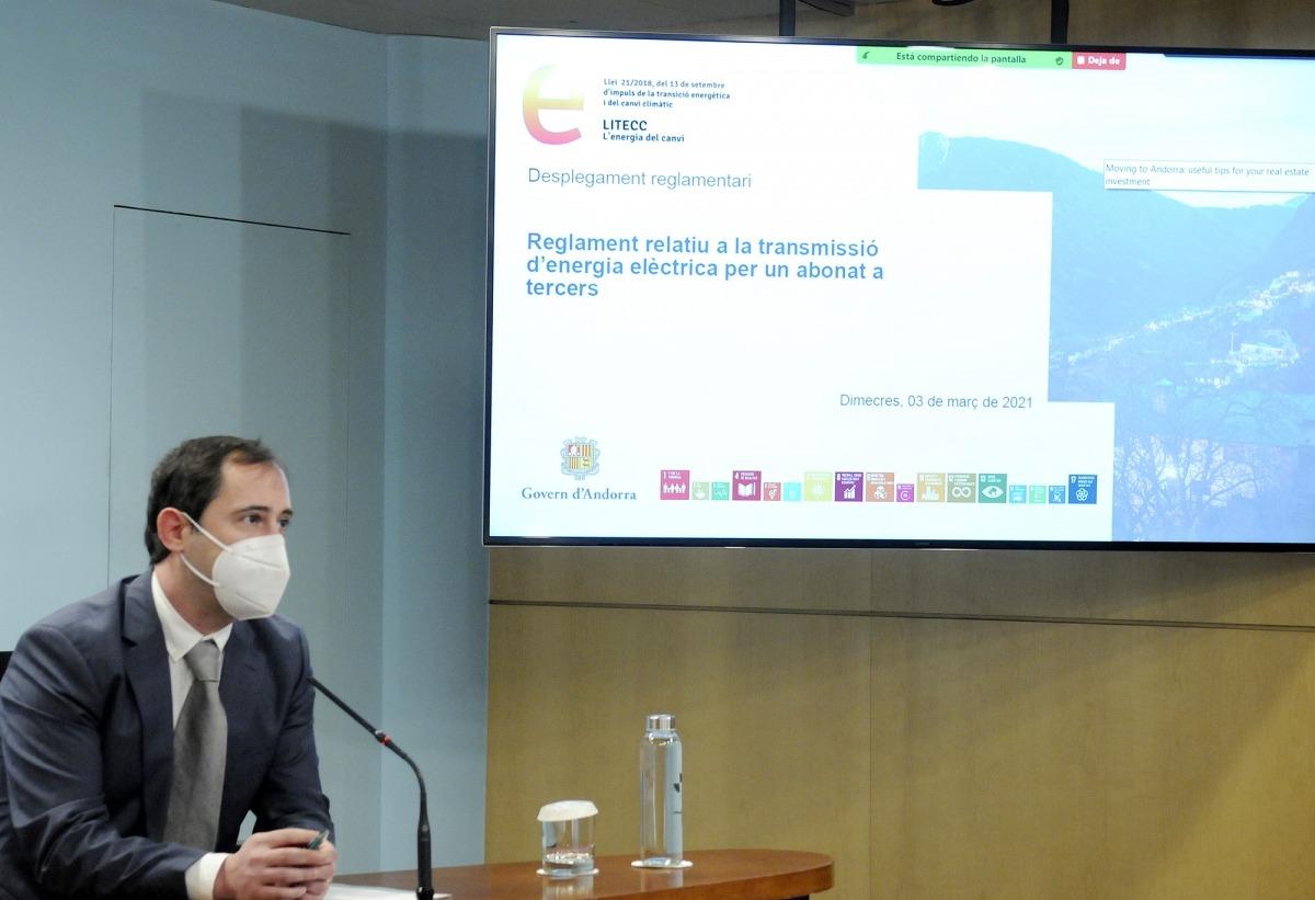 El director de l'Oficina de l'Energia i del Canvi Climàtic, Carles Miquel, aquesta tarda.