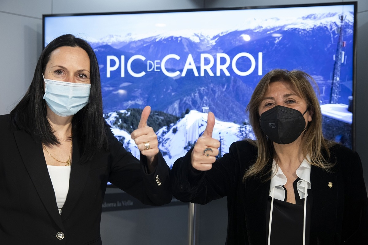 Olga Molné i Conxita Marsol el dia que es va presentar el plec de bases del concurs.