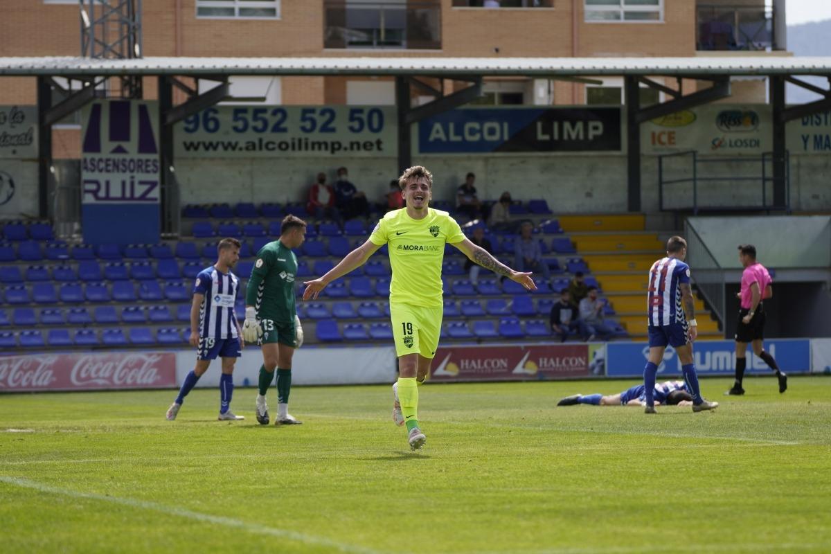 Pau Martínez celebra el 0 a 1 a El Collao. Foto: FC Andorra