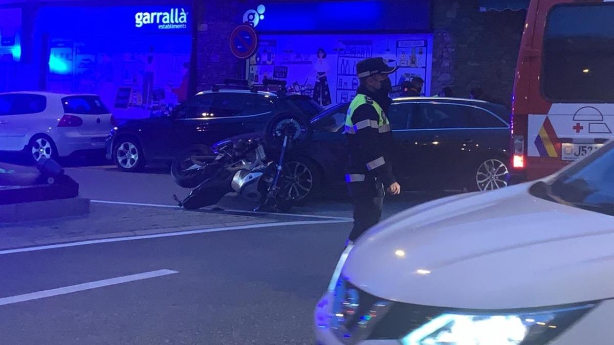 L'accident ha tingut lloc a la rotonda del telecabina.