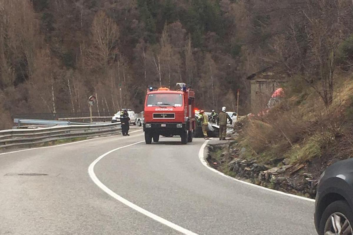 L'accident s'ha produït abans de les nou del matí.
