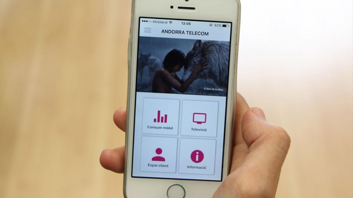L'aplicació mòbil d'Andorra Telecom.