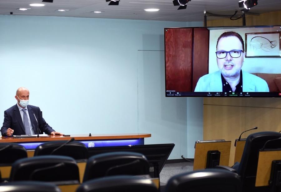 Federico Martinón va acompanyar telemàticament Martínez Benazet en la compareixença de divendres passat.