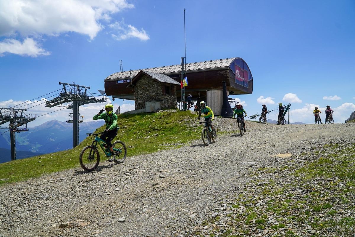 'Bikers' al Bike Park de Pal Arinsal.