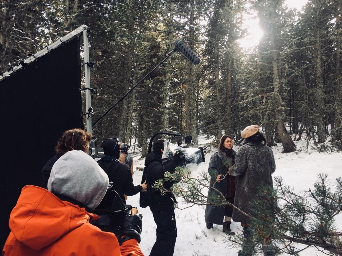 Rodatge de 'Le Blizzard', el desembre del 2017 als cortals d'Encamp i al coll d'Ordino.