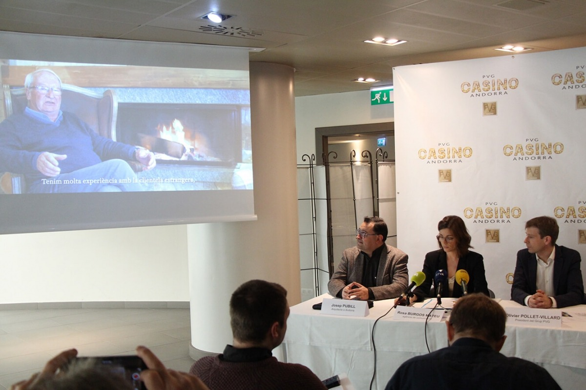 Un moment de la presentació del projecte de PVG Casino.