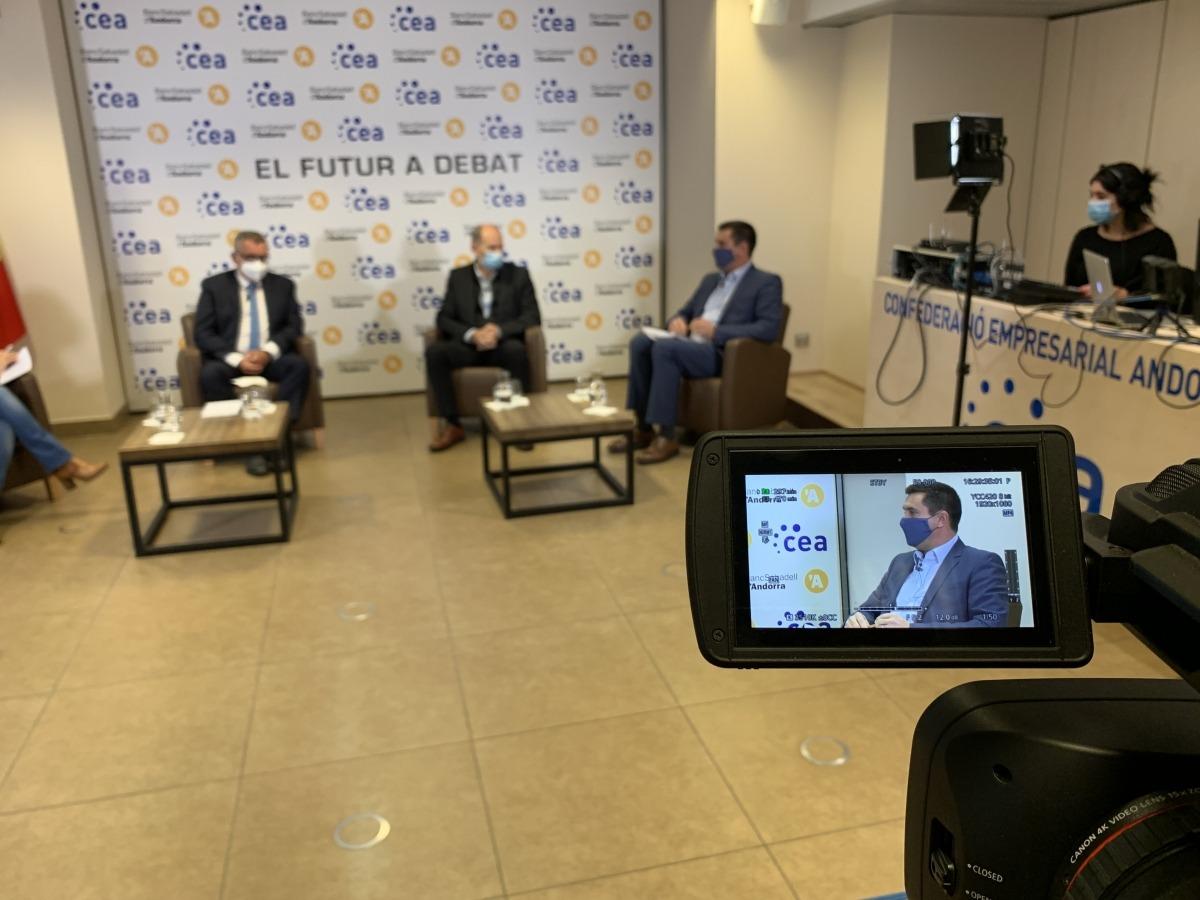 Un moment del debat sobre sostenibilitat en la nova sessió del cicle 'El futur a debat'.