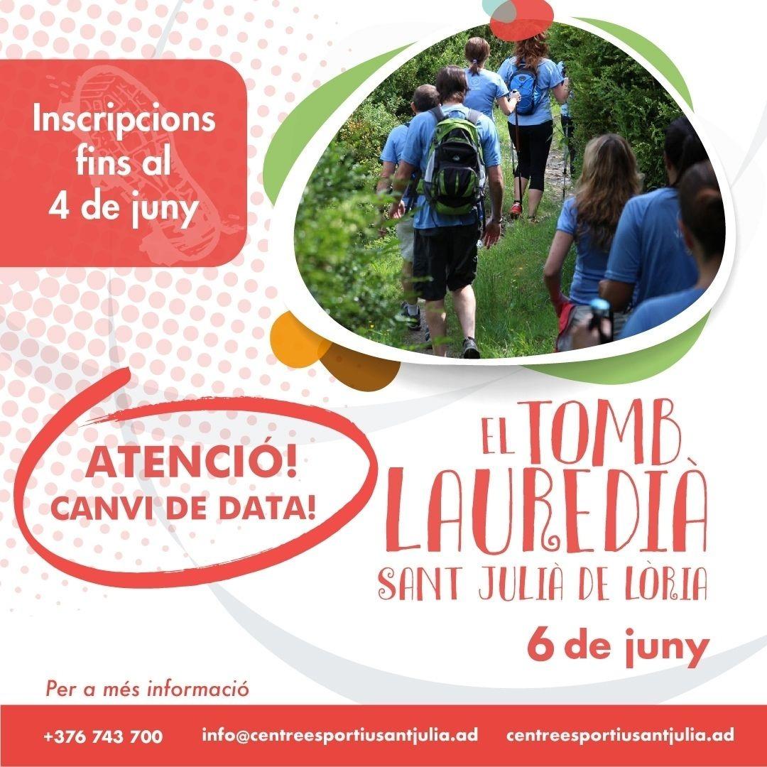 Cartell promocional de la caminada popular laurediana.