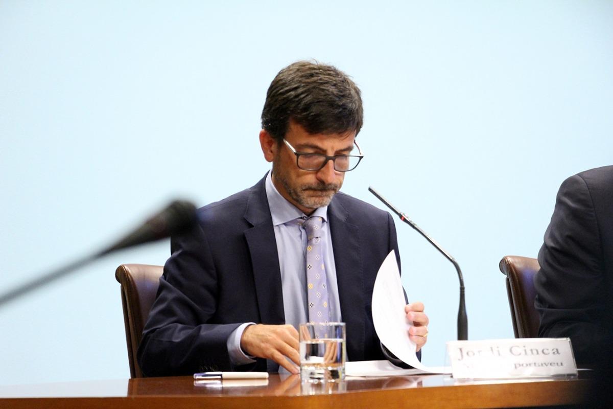 El ministre de Finances i portaveu de l'executiu, Jordi Cinca.